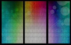 Rainbow coloured banners Stock Photos