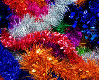 Rainbow Coloured Christmas Tin Stock Image