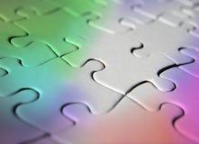 Rainbow coloured jigsaw puzzle Stock Image