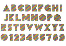 Rainbow Coloured textured alphabet. Rainbow Coloured  textured alphabet - PNG transparent image available to download Royalty Free Stock Images