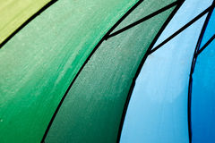 Rainbow coloured umbrella Royalty Free Stock Image