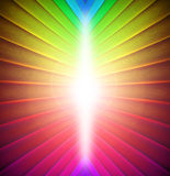 Rainbow colours background. Photo of spectrum colours with bright light emanating from centre...ideal for backgrounds etc Royalty Free Stock Photography