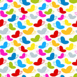 Rainbow colours seamless butterfly pattern Royalty Free Stock Photography