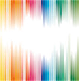 Rainbow Colours Striped Background For Brochure Stock Photos