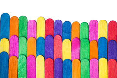 Rainbow colours wood close-up isolate Royalty Free Stock Photo