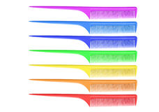 Rainbow comb Royalty Free Stock Image