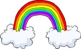 Rainbow con i clounds Immagini Stock