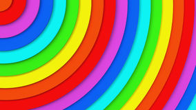 Rainbow concentric circles 3D illustration. Rainbow concentric circles. Abstract background 3D illustration vector illustration