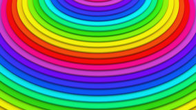 Rainbow concentric lines 3D rendering. Rainbow concentric lines. Abstract 3D rendering Stock Photo
