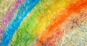 Rainbow on concrete Royalty Free Stock Images