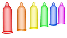Rainbow condom 2 Stock Photo