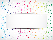 Rainbow confetti festive banner. Abstract background Royalty Free Stock Photography
