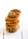 Rainbow cookies with colorful sugar Royalty Free Stock Image