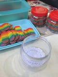 Rainbow cookies Royalty Free Stock Photo
