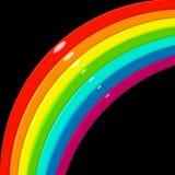 Rainbow corner. Glossy rainbow corner over black Stock Photography