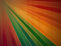 Rainbow corrugated cardboard background Stock Image