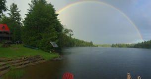Cottage rainbow Stock Image