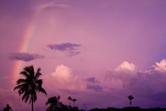 rainbow - countryside Royalty Free Stock Photography