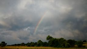Rainbow countryside Stock Images