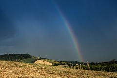 Rainbow in the countryside Stock Images