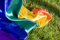 Rainbow cover on the greens Royalty Free Stock Photo