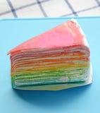 Rainbow crape cake Royalty Free Stock Image