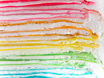 Rainbow crape cake in detail Royalty Free Stock Photos