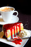 Rainbow crape cake Royalty Free Stock Photo