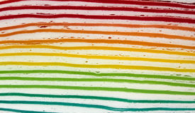 Rainbow crapecake Stock Images