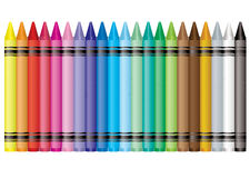 Rainbow crayon Royalty Free Stock Image