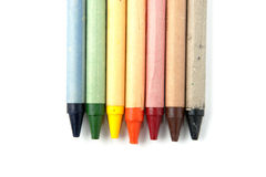 Rainbow of Crayons. Isolated on white background Royalty Free Stock Photography