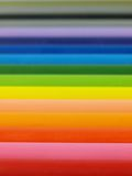 Rainbow from crayons Stock Image
