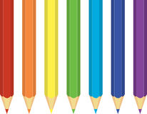 Rainbow Crayons Stock Images