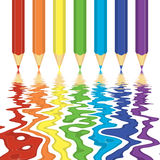 Rainbow Crayons Stock Photo