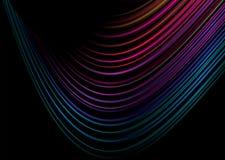 Rainbow crazy swirl Stock Image