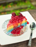 Rainbow crepe cake Royalty Free Stock Image