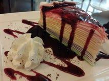 Rainbow crepe cake Royalty Free Stock Image