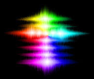 A rainbow cross pattern Royalty Free Stock Image
