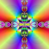 Rainbow crossing. Abstract fractal illustration created with the fractal explorer Stock Images