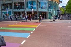 Rainbow crossing Stock Photos