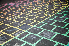 Rainbow Crossing in Summer Hill Stock Images