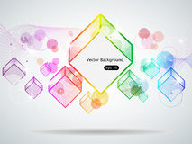Rainbow cubes Royalty Free Stock Images