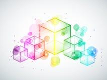 Rainbow cubes Stock Photography