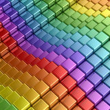 Rainbow cubes Stock Photo
