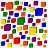 Rainbow Cubes Royalty Free Stock Photography