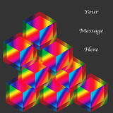 Rainbow Cubes Stock Image
