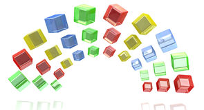Rainbow cubes Stock Photography
