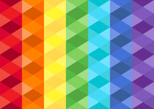Rainbow Cubic Background. Rainbow cubic polygon  texture or rainbow cubic polygon background Royalty Free Stock Images