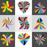 Rainbow, cuore e stelle Immagine Stock