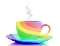 Rainbow cup stock image